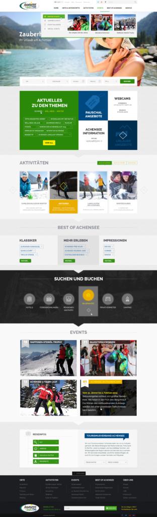 achensee website layout - fischi. vor umstellungen.