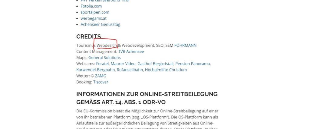 achensee webdesign - was nicht stimmt.